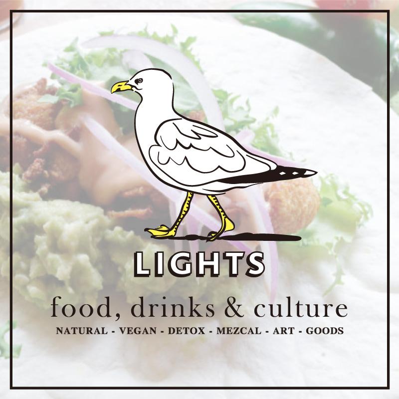 カモメが案内するLIGHTSは雑食MEATな人、菜食VEGANな人、 ペットも子供もウェルカムなレストランバーです。
